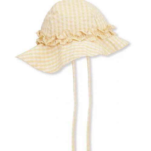 Konges Sløjd Acacia Baby Sun Hat - Yellow Check