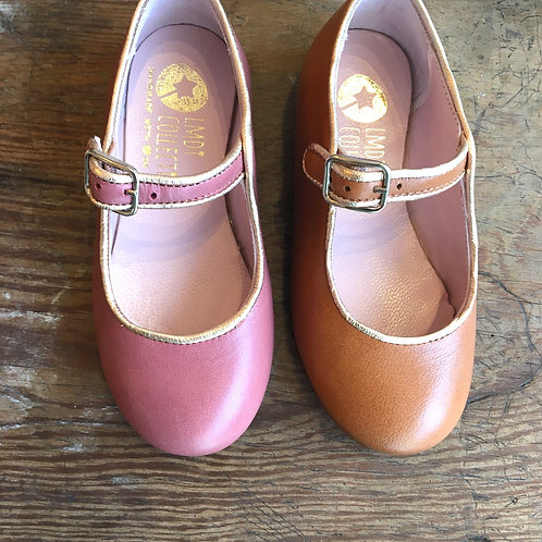 LMDI Collection Mary Janes - Tan