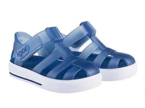 Igor Star Jelly Sandals Marino Blue