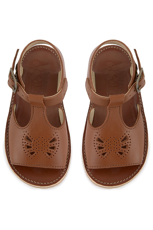 Young Soles Belle Sandals - Chestnut Leather
