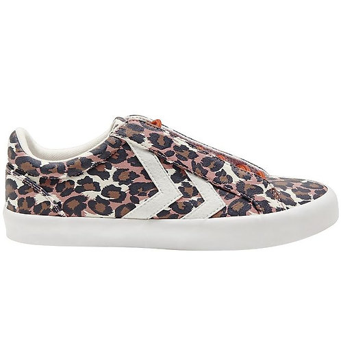 Hummel Deuce Court Leopard trainers
