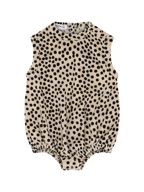 Another Fox Dot Terry Towelling Baby Bodysuit