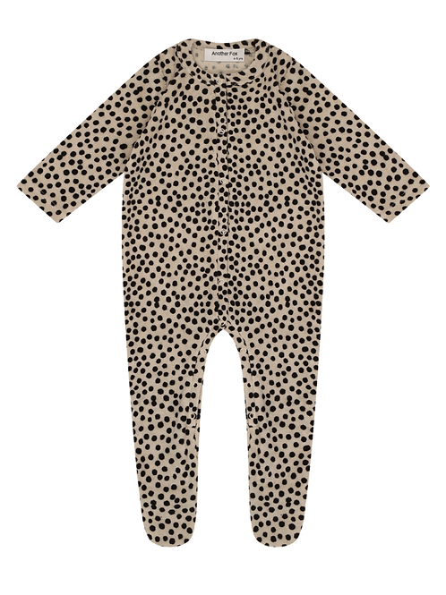 Another Fox Dot Terry Towelling Baby Romper