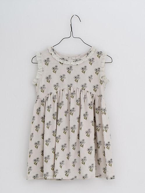 Celeste Dress in Poppy Floral - Little Cotton Clothes
