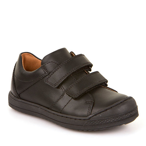 Froddo Boys Black Leather School Shoes Toe Bumper