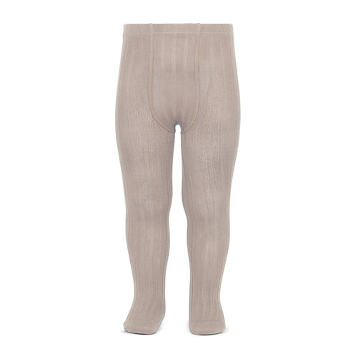 Condor Ribbed Tights - Stone