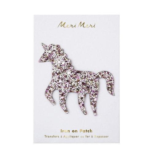 Meri Meri Glitter Unicorn Iron On Patch
