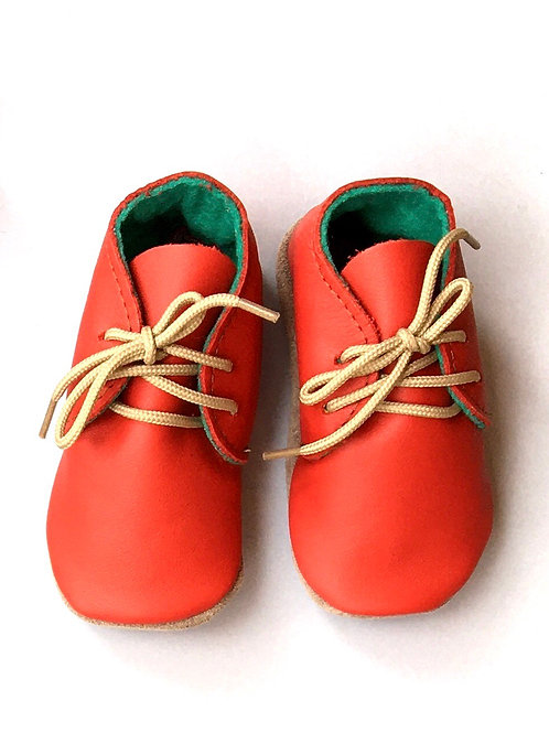 Baby Soft Soles Tomato Blue Heirloom red shoes baby