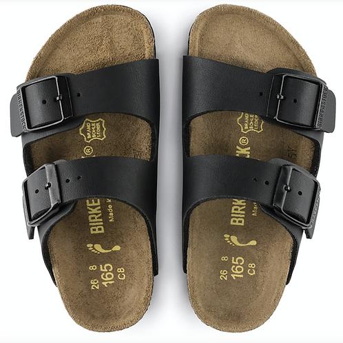 Birkenstock Kids Arizona  Birko Flor Black childrens sandals