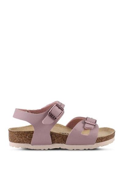 Birkenstock Rio Birko-Flor Lavender Blush kids sandals