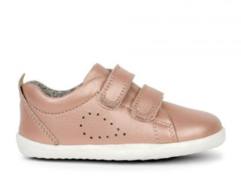 Bobux Grass Court Step-Up Rose Gold trainers shoes