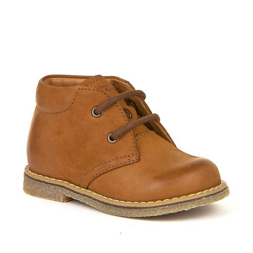Froddo Toddler Lace Up Boots - Cognac
