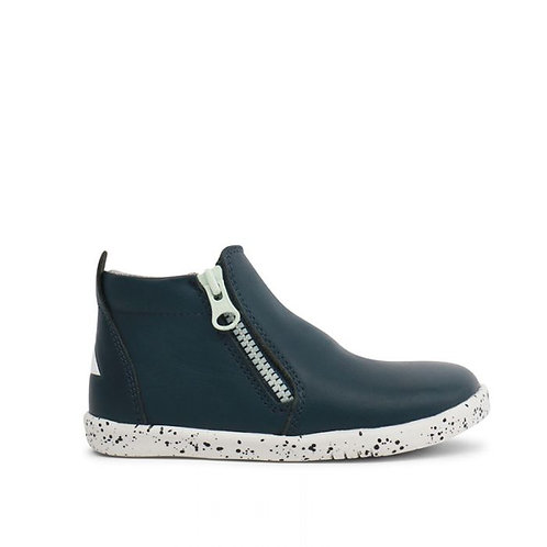 Bobux IWalk Tasman Navy boots shoes black white