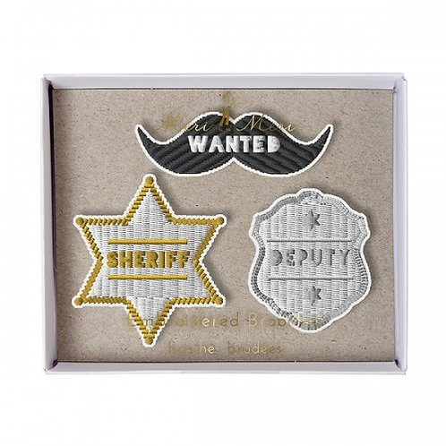 Meri Meri Sheriff Brooch Set