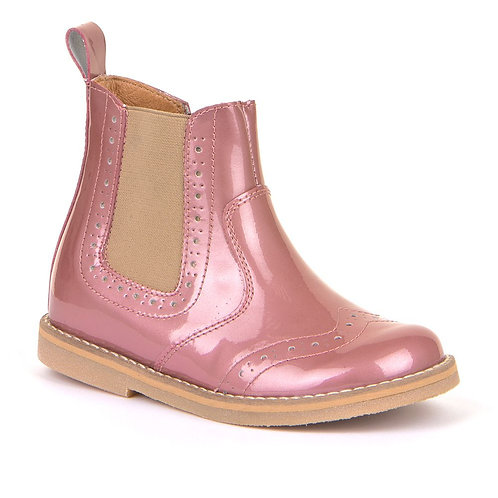 Froddo Chelsea Boots Patent Blush pink boots