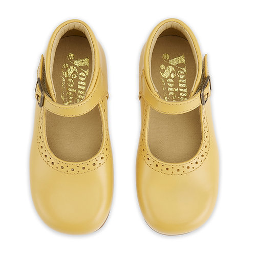 Young Soles Dolly Mary Jane Shoes Mellow Yellow Leather kids classic