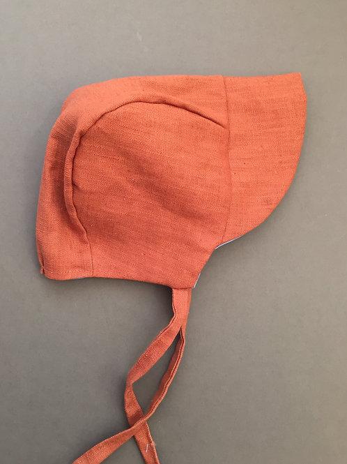 Sun Bonnet by Cottonflock - Rust Linen