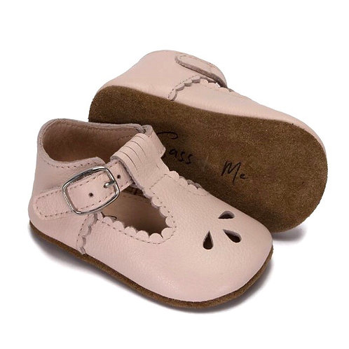 Baby Soft Sole Prewalker T-Bars Rose Leather Sass and Me