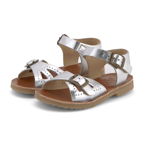 Young Soles Pearl Sandals - Silver Leather