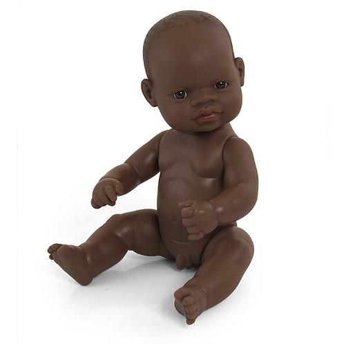 Miniland African Baby Boy Doll 32cm