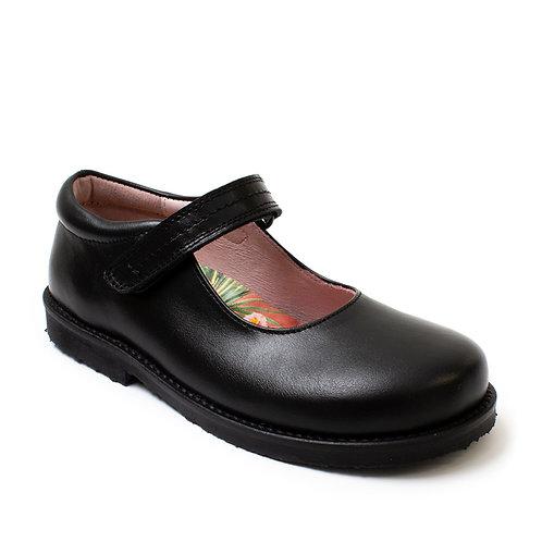 Girls Black Leather Mary Janes Petasil shoes