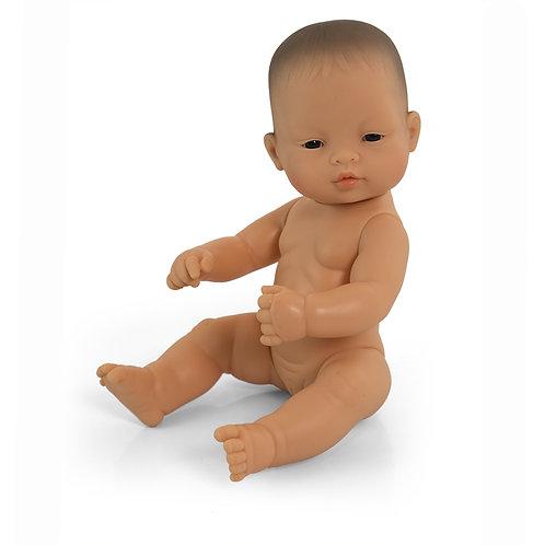 Miniland Asian Baby Girl Doll 32cm