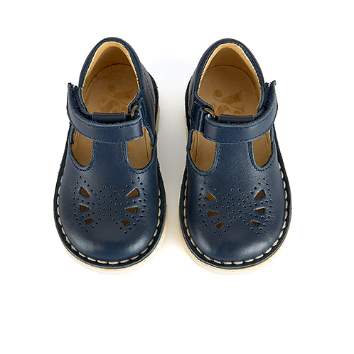 Young Soles Poppy T-Bar Navy shoes