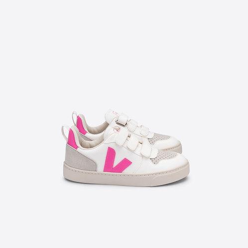 Veja V10 CWL Vegan Leather - White/Sari Pink