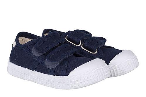Igor Berri Velcro Canvas Shoe Navy trainers