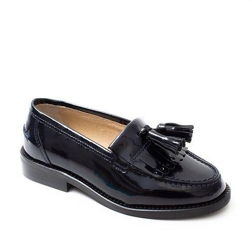 Petasil Premium High Shine Leather Loafer Black shoes
