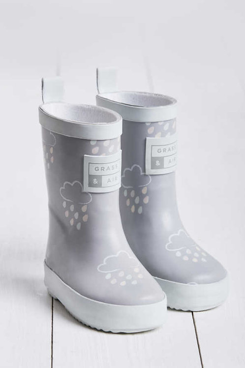 Grass & Air Colour Revealing Wellies Baby Grey