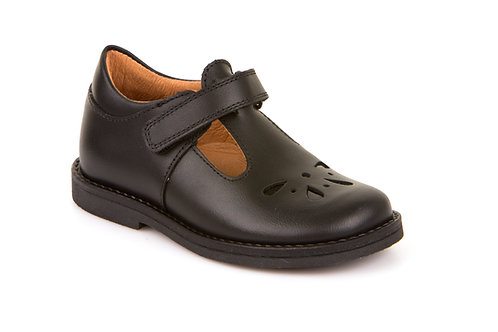 Froddo Black Leather T Bar shoes