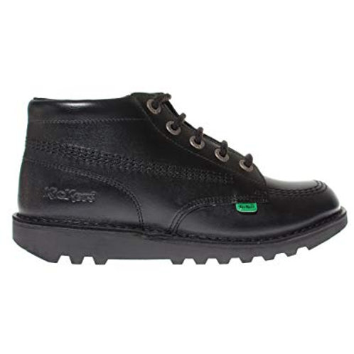 Kickers Kick High Classic Junior - Black Leather