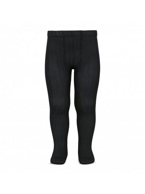 Ribbed tights in Black - Condor