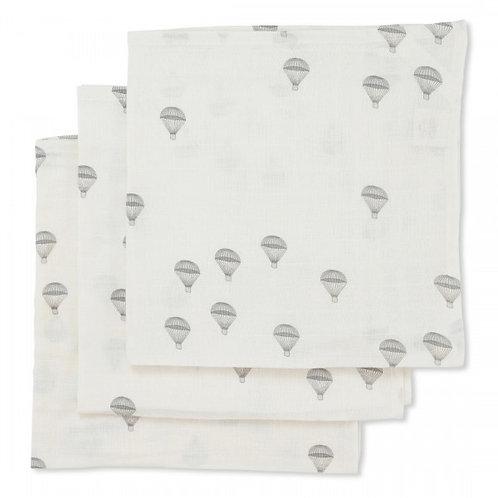 Konges Slojd 3 Pack Muslin Cloths - Parachutes