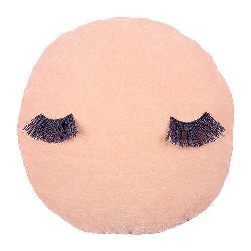 Meri Meri pink wink velvet cushion