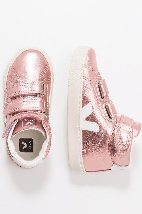 Veja Kids Esplar Mid Velcro Leather Nacre White