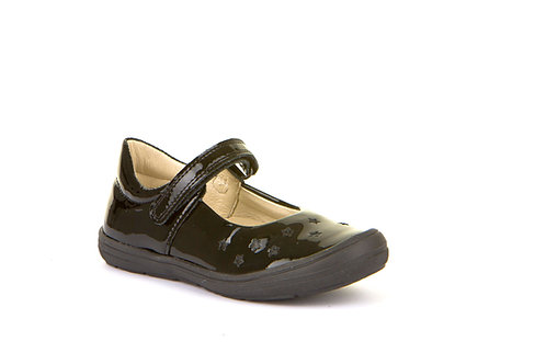 Black Patent Leather Stars School Shoes Froddo velcro