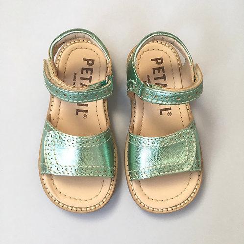 Petasil Luna Sandals Metallic Mint velcro shoes