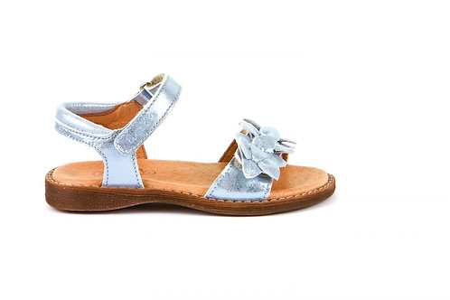Froddo Soft Leather Sandals Ice Blue Shimmer girls shoes