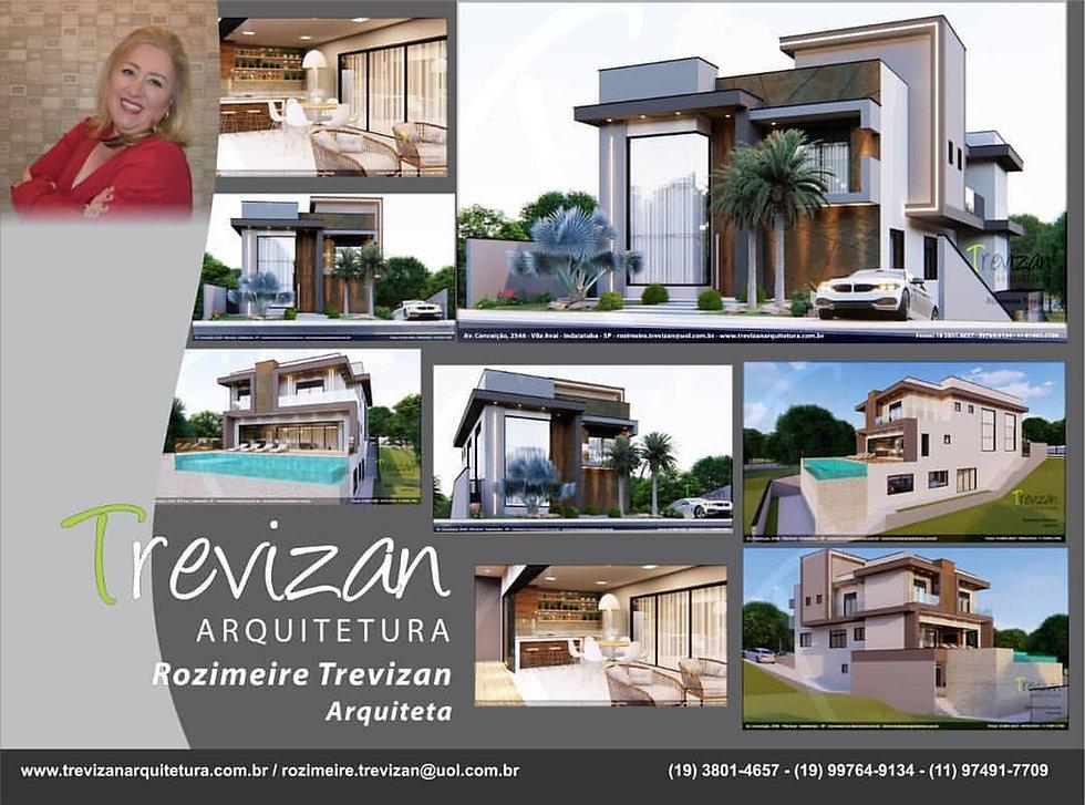 Projetos Trevizan Arquitetura da Arquiteta Rozimeire Trevizan