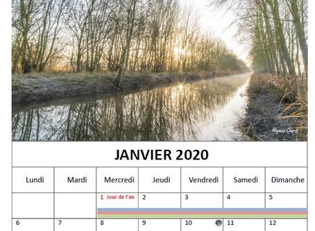 Le calendrier 2020