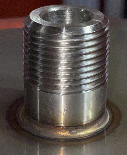 CNC Machined and TopTig Pulse Welded Nipple