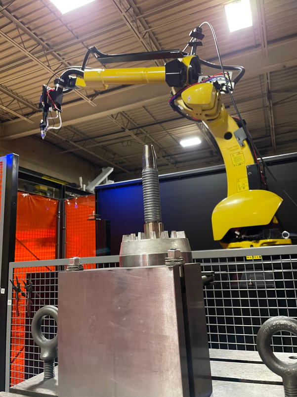 Fanuc Robot ARC Mate 120iD 12L In A Lincoln TOPTIG Fab-Pak Robotic Cell