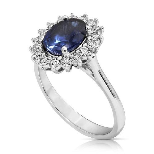 Sapphire & Diamond Diana Engagement Ring