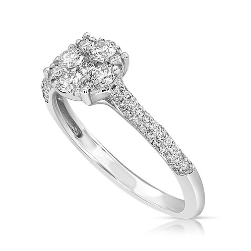Diamond Compact Engagement Ring