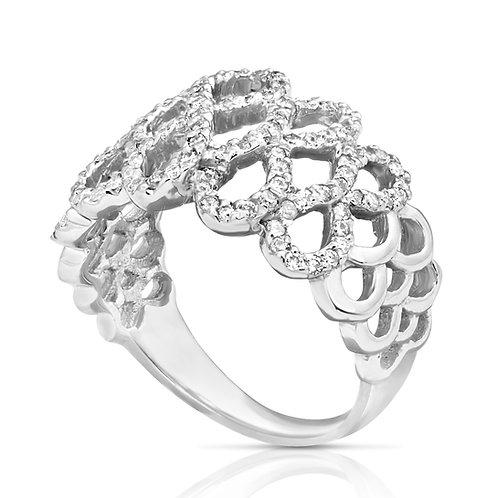 Gradual Diamond Infinity Ring