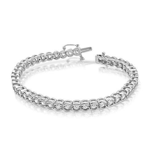 Thick Tennis Diamond Bracelet