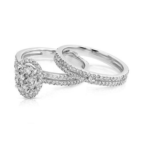 Double Ring Diamond Elegant Twins