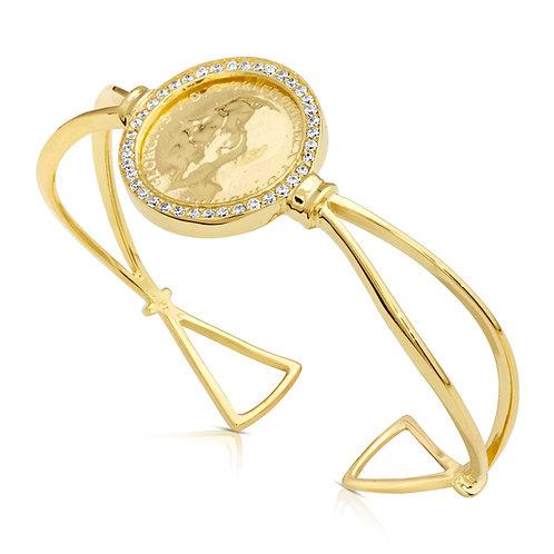 Traditional 1/2 Lera Bracelet With CZ